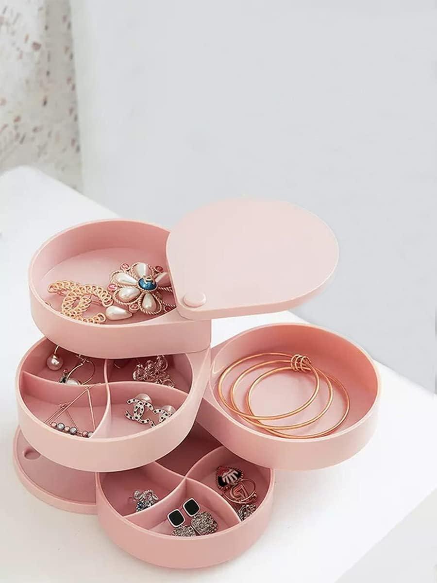 Jzhi Jewelry Box 1pc Rotatable Storage : Jacksonville Mall Mult Color Detroit Mall
