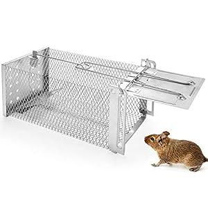 Qomolo Trampas para Ratas(Sin Muerte),Trampa para Ratones Vivos Jaula Humana para Ratones y Otros Roedores De Tamaño Similar,Ratonera con Cebo Reutilizable y Fácil de Usar para Interiores y Exteriores