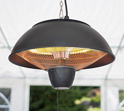 Firefly 1.500 Watt Infrarot-Heizstrahler (Halogen) Terrassenheizung, Deckenmontage, schwarz - 4