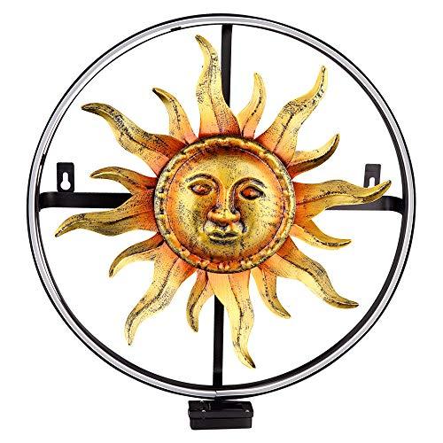 LED Solar Wand Leuchte Sonnen Design Garten Strahler Außen Lampe rund Deko Beleuchtung Globo 33515