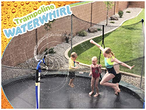 ThrillZoo Trampoline WaterWhirl - Kids Fun Summer Outdoor Water Park Game Sprinkler - Waterpark Toys for Boys Girls and Adults - Trampoline Accessories Included - Toy Attaches on Safety Net Pole