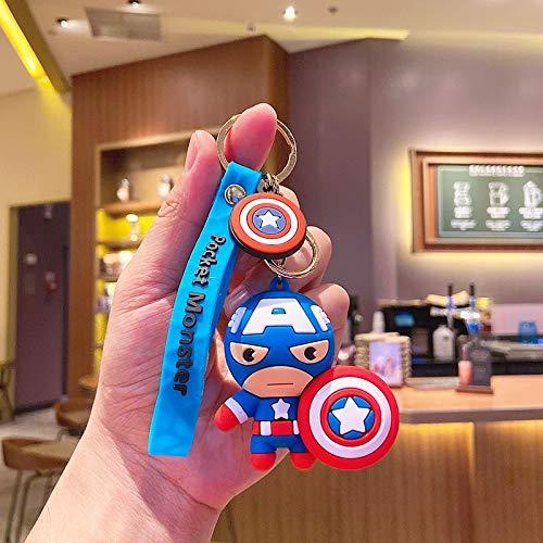 Neaer Llavero Disney Marvel Avengers lindo llavero de Iron Man Hulk Capitán América, llavero de coche para niños, llavero de regalo para amigos (color: 1)