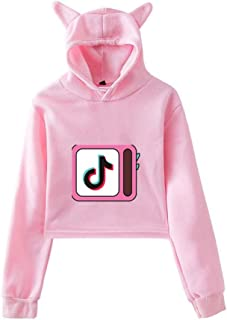 Cat Ears Women's Hoodie - 3D Print Vibrato Live Jacket and Hat,Cotton Fashion Youth Lug Shirt Sweatshirt Suitable for Children/Youth