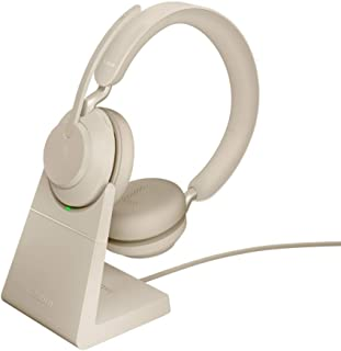 Jabra Evolve2 65 Wireless Headset with Charging Stand – Noise Cancelling UC Certified Stereo Headphones with Long-Lasting ...