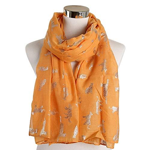 PGDD schwarz rosa Tiger Leopard schals Folie Gold Animal Print Ring Loop schals Snood schal Frauen Damen Geschenke gelb