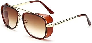 Iron Man Tony Sunglasses Unisex Retro Side Shields Steampunk Sunglasses
