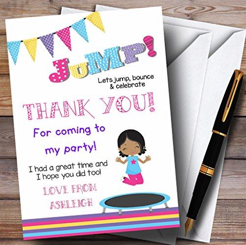 donker skinned meisje trampoline partij dank u kaarten 200 Invitations