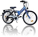 Fahrrad Blau Kinderfahrrad 20 Zoll Fahrrad 6 Gang Shimano 018
