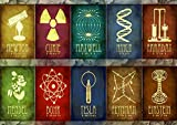 Poster Sciences Grands INVENTEURS Scientist Symbols Wall Art