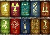 Poster Sciences Grands INVENTEURS Scientist Symbols Wall Art