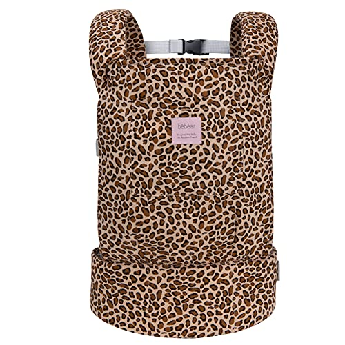 Bebamour Leopard Baby Doll Carrier Original Reborn Baby Carrier for Doll Toys Doll Carrier for Girls and Boys (Leopard Print)