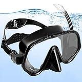 amzdeal Maschera Snorkeling,Snorkeling Set Anti-Fog Maschera Subacquea Professionale e Boccaglio Snorkeling con Panoramica a 180 Gradi per Adulti