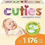 Cuties Hypoallergenic Skin Smart Baby Diapers, Size 1, 176 Count