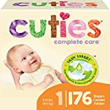 Cuties Complete Care Baby Diapers, Size 1, 176 Count
