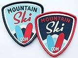 Club of Heroes 2er-Set Ski Abzeichen gewebt 55 x 60 mm/Aufnäher Aufbügler Sticker Patch/Alpin Alpen Winter Wintersport Skifahren Langlauf Skilauf Skiführer Bindung Snowboard Österreich Schweiz Allgäu