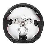 Changor Pilotage Roue, Carbone Fibre Perforé Nappa LED Auto Cuir Pilotage Roue Est Qui Convient pour Tous Séries De Infidèle G37 2009-2013