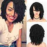 Persephone Short Dreadlock Wig for Black Women 2021 New Roll Twist Wigs Fashion Synthetic Curly Braided Wigs Black Hair