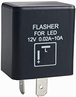 Dewhel 12V 0.02A-10A 2-Pin CF-12 Electronic LED Flasher Relay Fix For Turn Signal Light Fast Hyper Flash