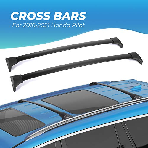 BougeRV Car Roof Rack Cross Bars for 2016-2021 Honda Pilot with Side Rails, Aluminum Cross Bar Replacement for Rooftop Cargo Carrier Bag Luggage Kayak Canoe Bike Snowboard Skiboard