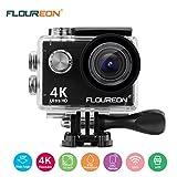 FLOUREON Action Kamera 4K Action Cam WIFI Unterwasserkamera Helmkamera Sportkamera Wasserdicht 170°...