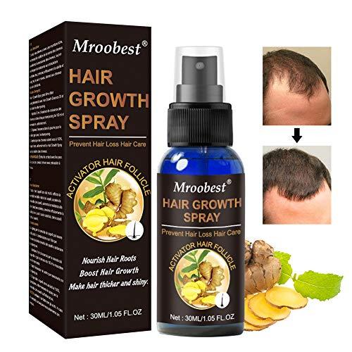 Hair Growth Spray, Haarwuchs Spray, Hair Growth Serum, Anti Haarausfall, für dünner werdendes Haar, Verdickung und Nachwachen, fördert dickeres, Volleres und schneller wachsenden Haar