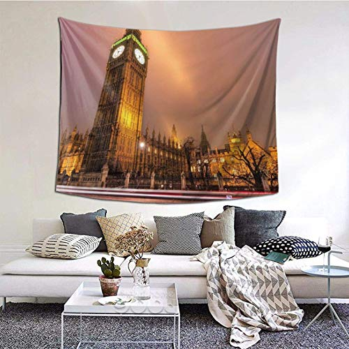 Beauty Taj Mahal - Tapiz de pared ancha para colgar en la pared, de lujo, para dormitorio, sala de estar, 152 x 152 cm, hermoso Big Ben