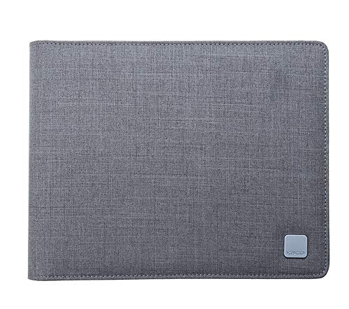 20 Slots Fountain Pen Case Gray, Waterproof Canvas Pen Holder Display Pouch Bag by KACO