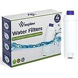Weeplow - 4 Filtres à eau DLSC002 pour machine à café Delonghi compatible avec Delonghi Magnifica, Dinamica, Autentica, Primadonna et toutes séries ECAM, ESAM, ETAM, BCO, EC (4)