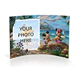 Trend Setters Disney Mickey Mouse and Minnie Mouse in Hawaii Photo Upload Personalized Curved Acrylic Print by Thomas Kinkade Studios Free Standing Collectible