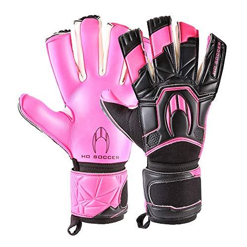 HO Soccer Premier Torwarthandschuhe Hybrid Roll/Negative Storm Pink für Erwachsene, Unisex Einheitsgröße rosa/schwarz