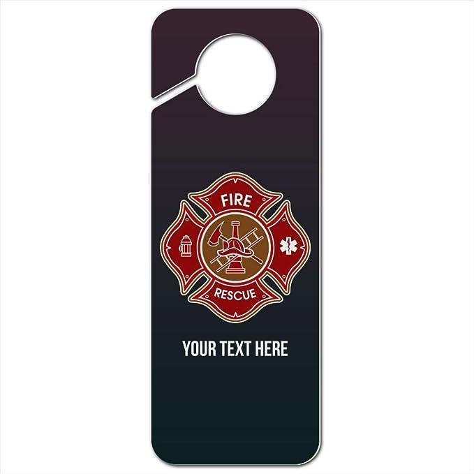 Custom Monogrammed Firefighter/'s Maltese Cross Door Hanger