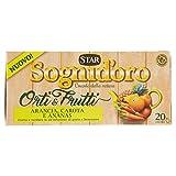 Sognid'Oro Tisana Orti&Frutti Arancia Carota e Ananas, 20 x 2.5g...