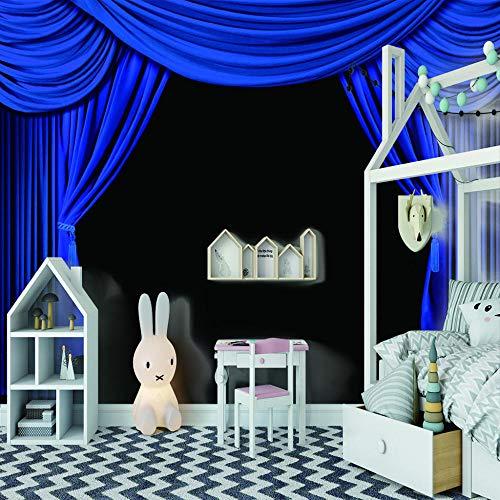 Fototapete Theater Vorhang Bühne 3D Tapete Vliestapete Moderne Wanddeko Design Tapete Wandtapete Wand Dekoratio Wohnzimmer TV Hintergrundwand - 400cm(W) x200cm(H) - 8 Stripes