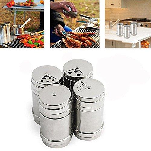 2.99 x 1.97 inch Stainless Steel Spice Storage Bottle Jar Sugar BBQ Salt Pepper Herbs Toothpick Storage Bottle(7.65cm/2.99''1.97'')