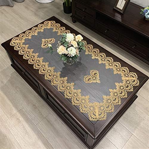 Manteles hechos a mano simple europeo rectángulo mantel bordado café mesa mesa occidental té paño flor color sólido tela encaje