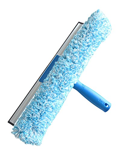 Unger Einwascher, Fensterwischer 2 in 1, 35 cm (Reinigt streifenfrei; Kratzschutz; Mikrofaserbezug waschbar) 94514Z