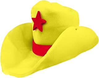 Novelty Giant Foam Cowboy Hat Yellow, Yellow, Size 1 Size