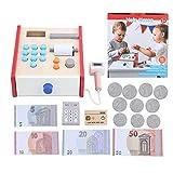 Zerodis Simulación de Madera Supermercado Cajero Juguete Aprendizaje Educativo Interactivo Preescolar Juegos de rol Juguetes para niños Niños pequeños(#1)