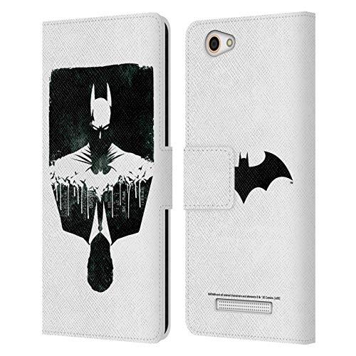 Head Hülle Designs Offizielle Batman DC Comics Alter Ego Stadtbild Dualitaet Leder Brieftaschen Huelle kompatibel mit Wileyfox Spark X