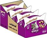 Whiskas Anti-Hairball Katzensnacks gegen Fellknäuel mit Huhn, 8 Packungen (8 x 60 g)