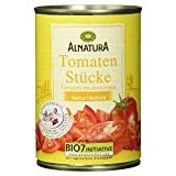 Alnatura Bio Tomatenstücke Natur, vegan, 12er Pack (12 x 400 g)