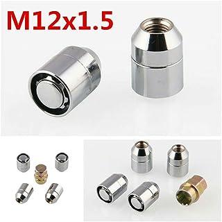 Set di 16/cromo Quad ruota dadi M10/x 1.25/con cupola