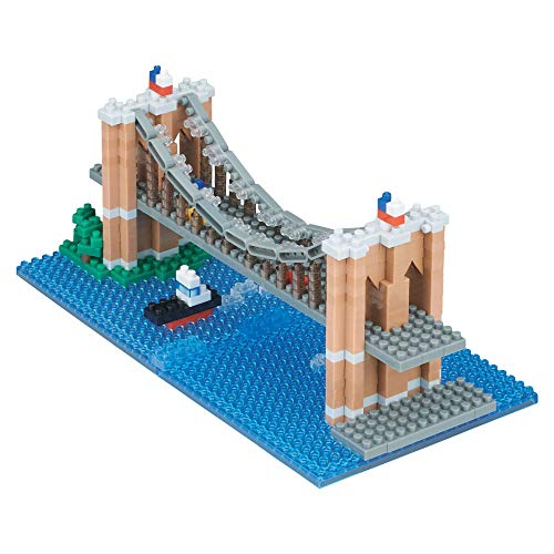 nanoblock Brooklyn Bridge Building Set , White