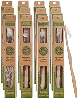 Plant-based Bamboo Toothbrush Adult Size 12 Pack
