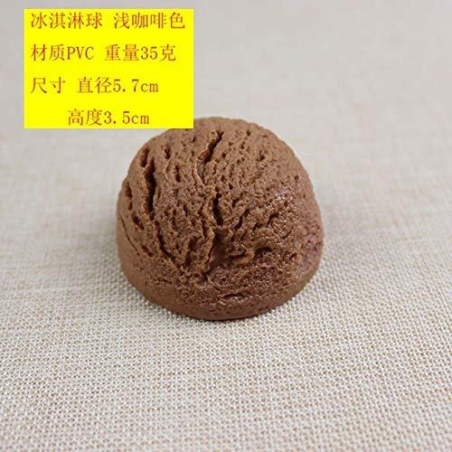 Xinger Kunstwinkel Decoratief voedsel KleurrijkSimulatie Ijsbal Chocoladekoekjes Stick Food Model, puur koffie-ijs