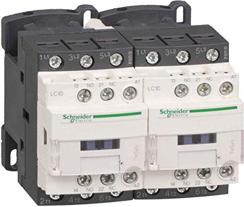 Schneider LC2D09P7 Wendeschützkombination, 3p+1S+1Ö, 4kW/400V/AC3 9A, Spule 50/60Hz, 230 V