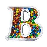 DecoPorex Letra B para Caramelos de 20Cm de Altura y 2Cm de Profundidad en poliestireno
