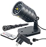 Lunartec Laser Sternenprojektor: Laser-Projektor mit 12 LEDs, 8 Licht-Effekte, Timer, Fernbed, IP65 (Weihnachtslaser)
