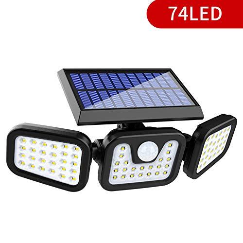 Lixada Solar Light Tuin, LED Solar lampen voor buiten met bewegingsmelder, Solar IP65 waterdichte wandlamp buitenlampen, 360 ° draaibare dubbele lichtkop voor garage
