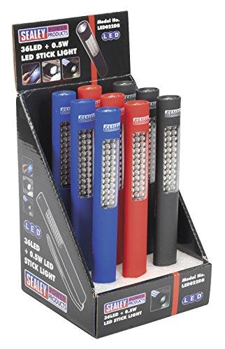SEALEY led022db 36 LED Lumière Stick avec 0,5 W LED dans une boîte en haut (9 pièces)